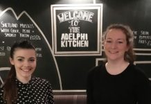 Some of the team at the reopened Adelphi Kitchen showcase the new dishes