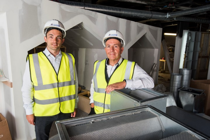 Brian McNicoll, manager of enterprise and entrepreneurship at the University of Dundee with Professor Gary McEwan, chief executive of Elevator