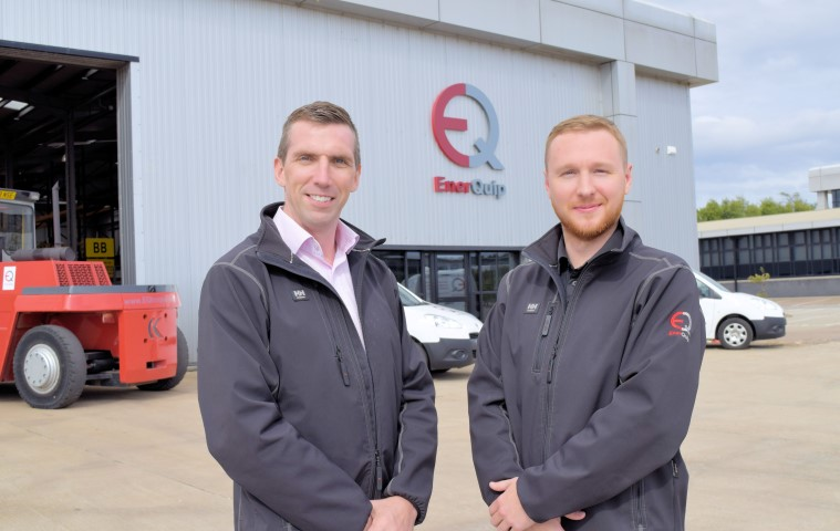 Barry Marshall, business development manager (L) and Andrew Robins, controls director (R), outside the new facility.