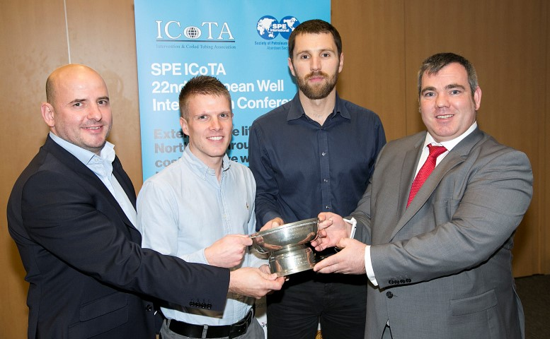 Shell, Helix Well Ops and ALTUS Intervention collecting the 2016 ICoTA European Chapter Innovation Award