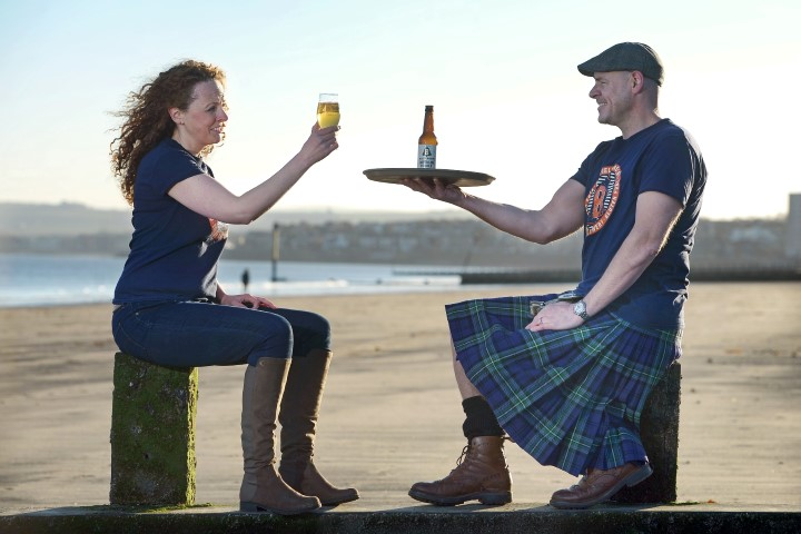 From left - Anna Orr, Marketing Manager and Kieran Middleton, Brewer and Business Development Manager Picture credit: Neil Hanna
