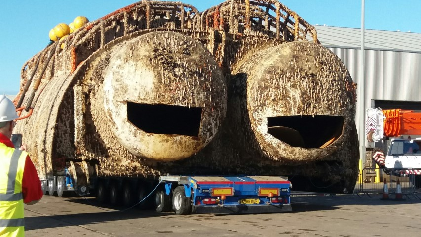 Two subsea mid water arches weighing around 100 tonnes each