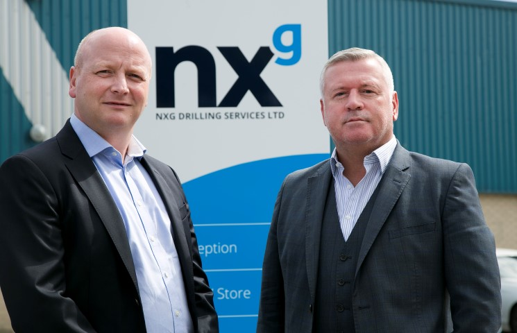 Left, Mark Stephen, chief operating officer at NXG Drilling Services and Rod Coffey, chief executive officer at NXG Drilling Services.