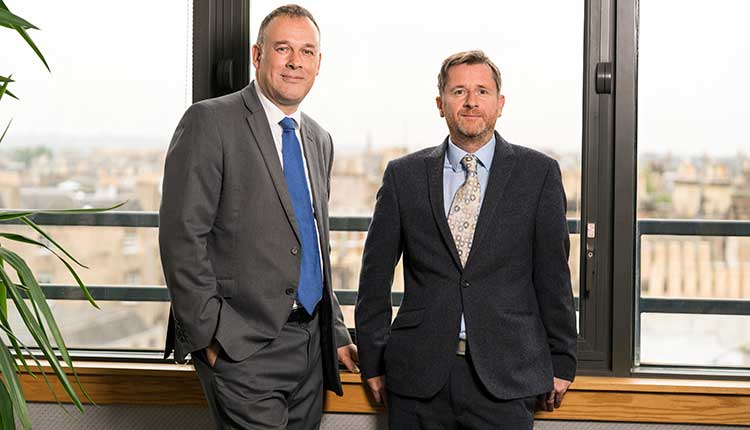 Left to right are Bruce Farquhar and Alistair Dean of Alba Clams